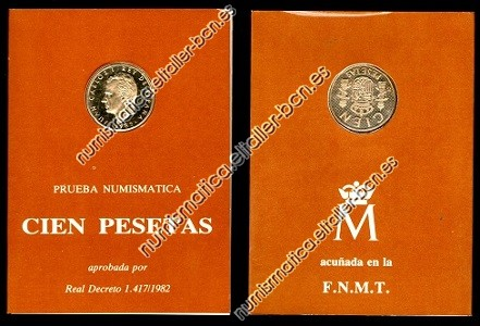 España 1982 Cartera FNMT 100 Pesetas